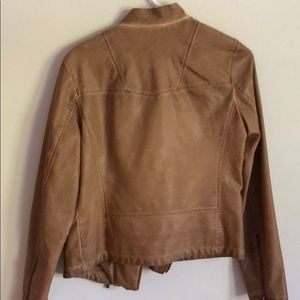 bagatelle Jackets & Coats - Tan faux leather Moto jacket